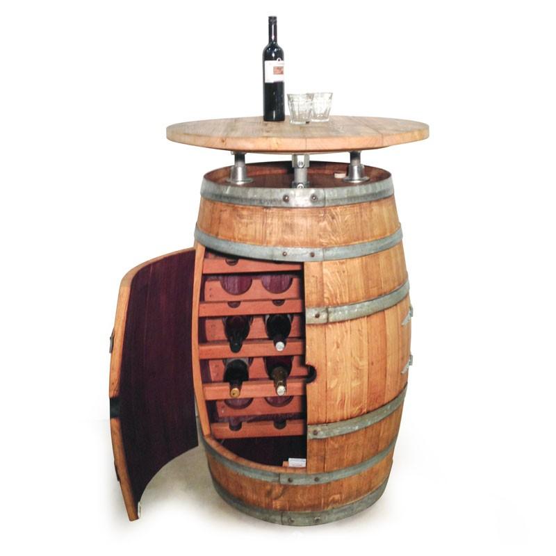 Voorkeur Statafel- wijnkastcombinatie van wijnvaten | Handgemaakt door van MS54
