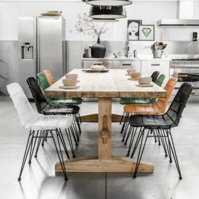 Hk living stoelen hk living merken for Rotan eettafel stoel