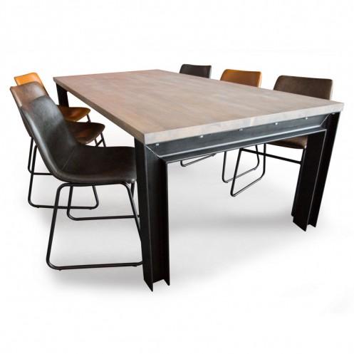 Eetkamerstoelen En Tafel.Eettafel Set Handgemaakte Industriele Eettafels En Vintage
