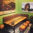 Wagontafel met Vintage Hoekbank