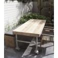 Steigerhouten tafel 86 met steigerbuis frame