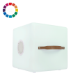 Nikki.Amsterdam The.Cube - Multicolor LED Kubus + Zitelement en Bluetooth Speaker