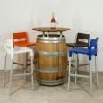 Wijnvaten Statafel met 4 Divo krukken