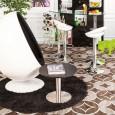 Zooff Designs Almere Egg Fauteuil wit/zwart