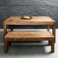Zooff Kare Design Authentico Eetbank en tafel 160x40cm