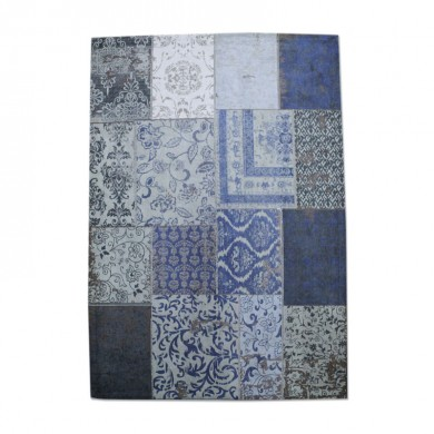 By-Boo Vloerkleed Patchwork donker blauw 240x170 cm
