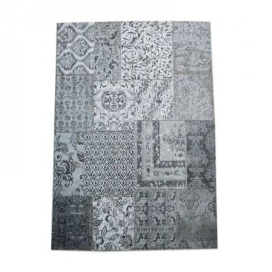 By-Boo Vloerkleed Patchwork grijs 300x200 cm