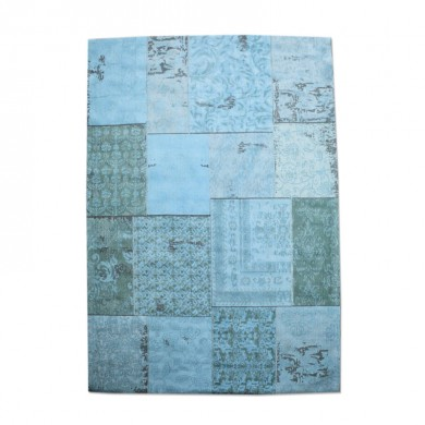 By-Boo Vloerkleed Patchwork turquoise 240x170 cm