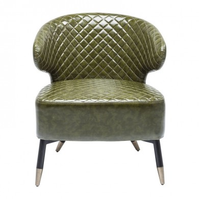 Kare design Cocktail Fauteuil Donkergroen