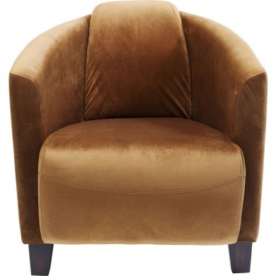 Kare Design Armstoel Cigar Lounge Velvet Brown