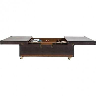Kare Design Coffee Table Bar Globetrotter 120x75cm