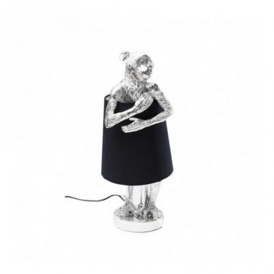 Kare Design tafellamp Monkey Silver Black