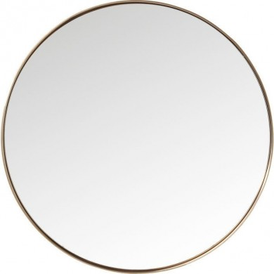Kare Design Mirror Curve Round Copper Ø100 cm
