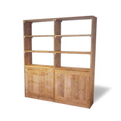 Steigerhouten Wandkast Boekenkast