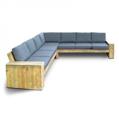 Steigerhouten Hoekbank Lounge