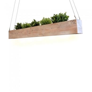 Steigerhouten Hanglamp en Plantenbak