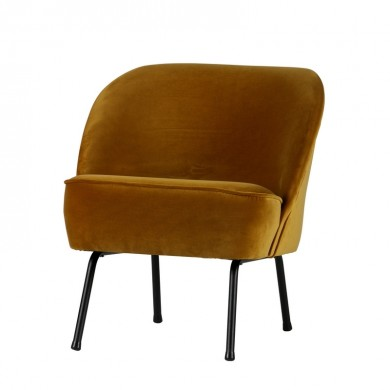 Be Pure Vogue Fauteuil Fluweel Mosterd