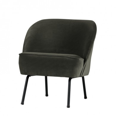 Be Pure Vogue Fauteuil Fluweel Onyx