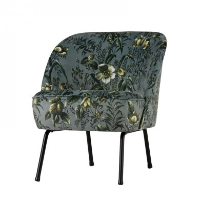 Be Pure Vogue Fauteuil Fluweel poppy grijs