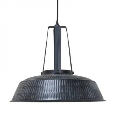 HK Living Workshop Hanglamp L rustiek matt zwart