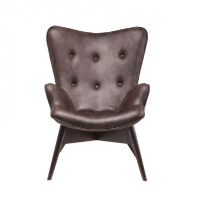 Kare Design Angels Wings Fauteuil Donker Bruin Eco