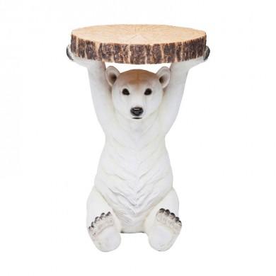 Kare Design Bijzettafel ijsbeer Ø37cm