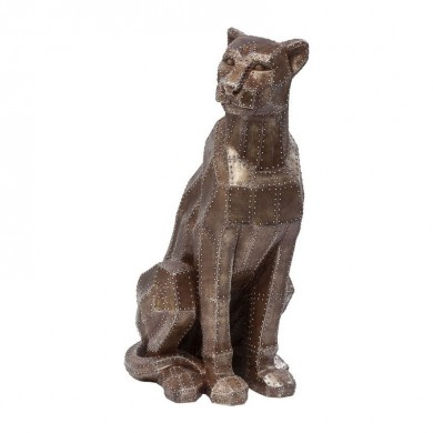 Kare Design Deco Figurine Sitting Cat Rivet Copper