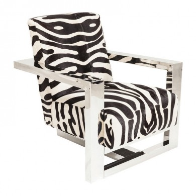 Kare Design Sessel Wildlife Zebra