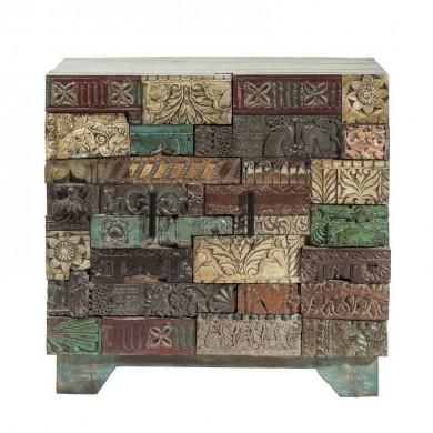 Kare Design Shanti Puzzle Kastje 2 deurs - laatste model