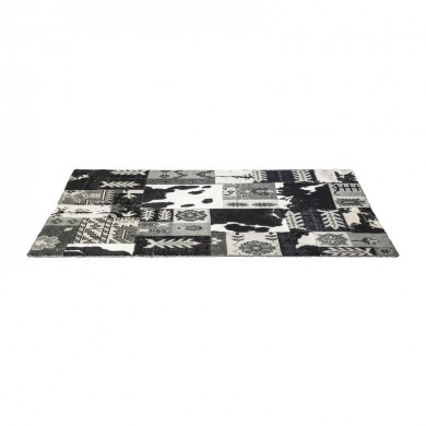 Kare Design Square Mix It Black Vloerkleed