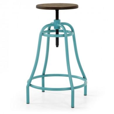 LaForma Malibu Barkruk Metaal Turquoise