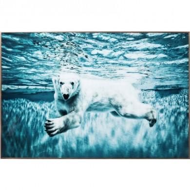 Kare Design Picture Frame Alu Swimming Polar Bear 80x120cm