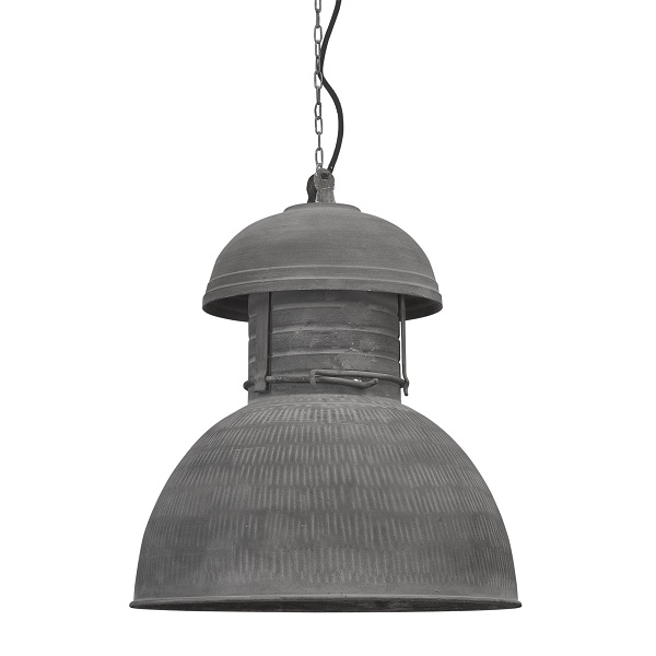 HK Living Industriele Warehouse Hanglamp L Rustiek Grijs