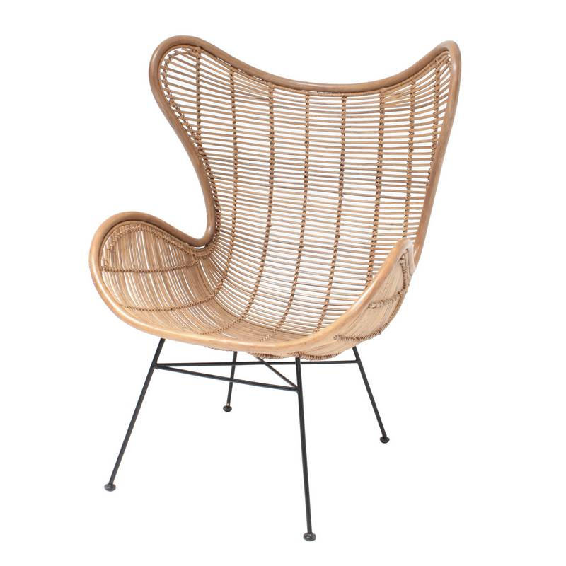 HK Living Rotan Egg Chair Naturel