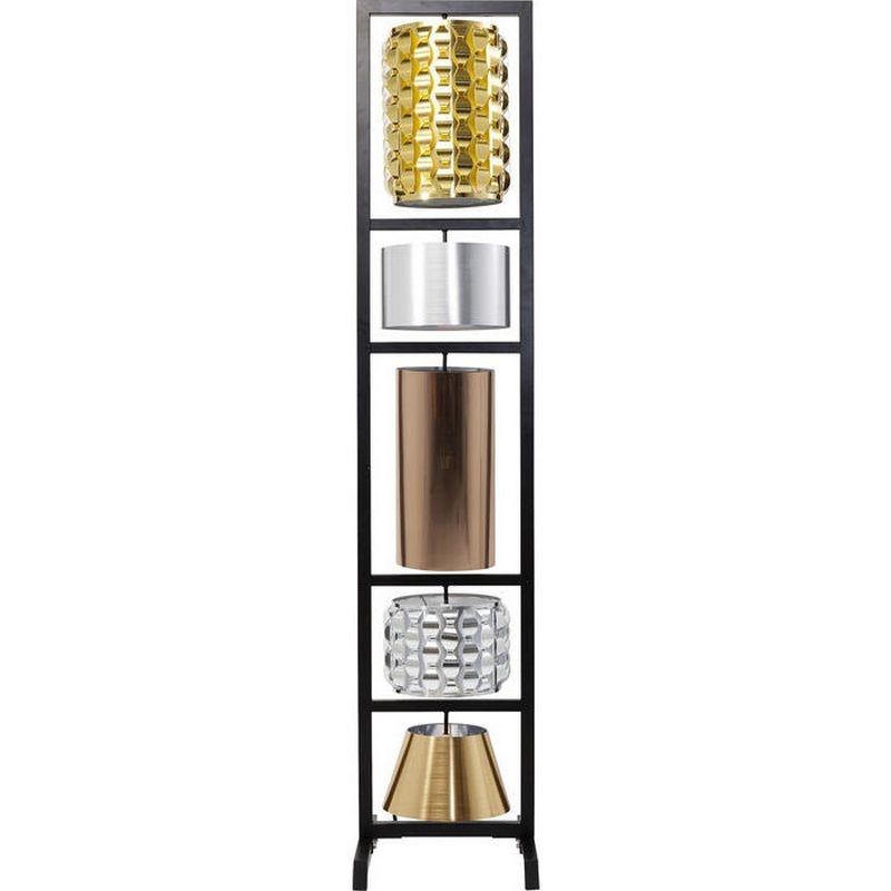 Kare Design Vloerlamp Parecchi Glamour Zwart Small 180cm