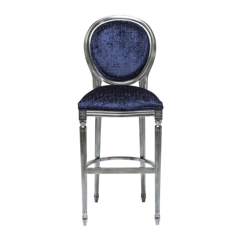 Kare Design Barkruk Posh Donkerblauw