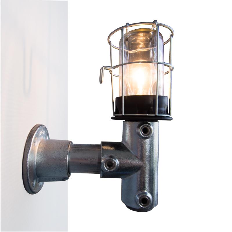 Van Abbevé Industriële retro wandlamp UP