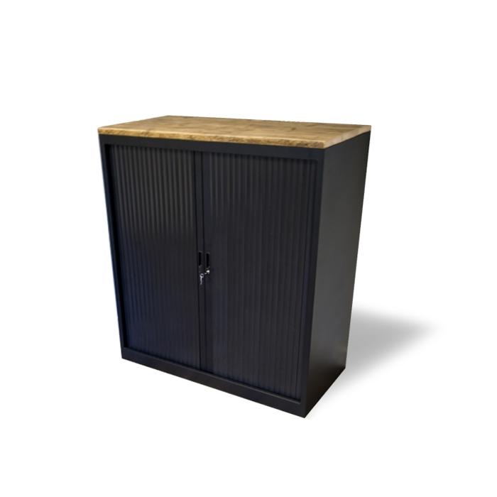 Roldeurkast Met Steigerhouten Topdek