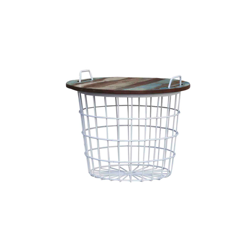 By-Boo Basket Table White
