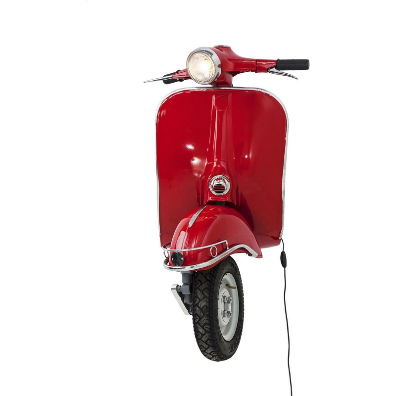 Kare Design retro wandlamp Scooter Rood