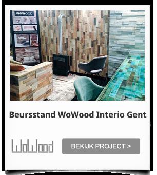 Beursstand WoWood Interio Gent België
