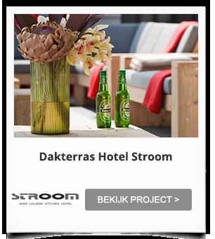 Projectinrichting Dakterras Hotel Stroom