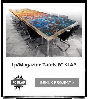 Projectinrichting - FC Klap Mediatafels/LP Tafels