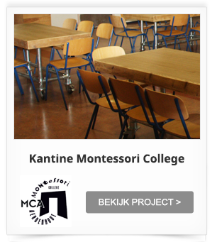 Projectinrichting Kantine Montessori College