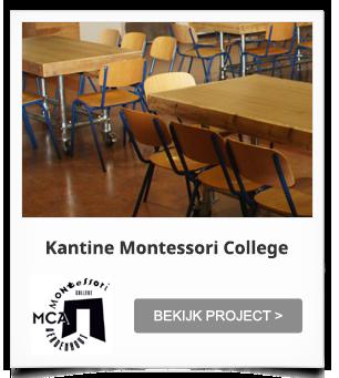 Projectinrichting Kantine Montessori College