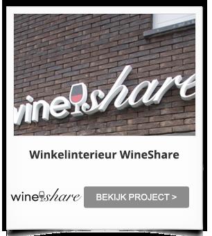 Totaalinrichting Winkelinterieur WineShare