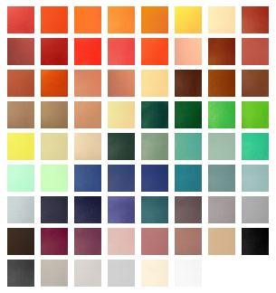 Treinbank bekleding kleuren