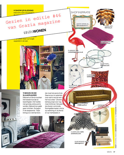 Zooff in de media - Grazia magazine - Kara Mirage Bank