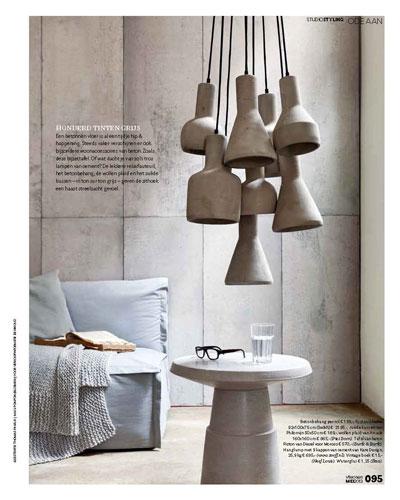 Zooff in de media - VT Wonen 05-13 #42 Ode aan beton - Kare Design Massy 9 Lichts Hanglamp