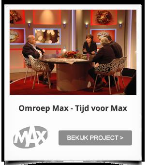 Witte Fast Forest Stoelen voor Tijd voor Max, het tv programma van Omroep Max